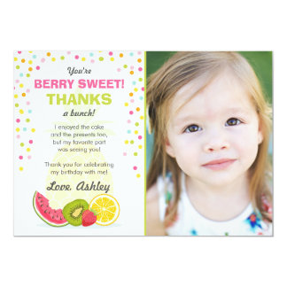 Tutti Frutti Party Fruit birthday Thank You Card