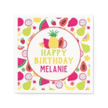 Tutti Frutti Tropical Fruit Birthday Party Paper Napkins
