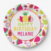 Tutti Frutti Tropical Fruit Birthday Party Paper Plate