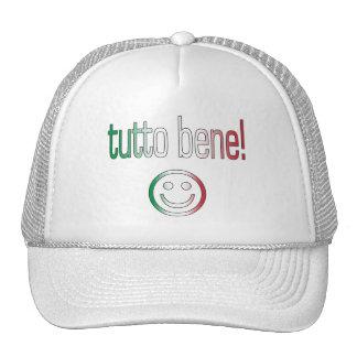 ¡Tutto Bene! Colores de la bandera de Italia Gorra
