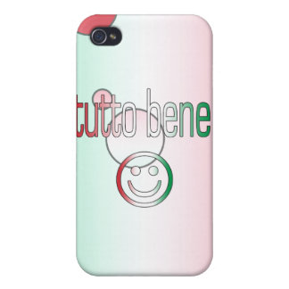 Tutto Bene! Italy Flag Colors Pop Art Cover For iPhone 4