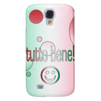 ¡Tutto Bene! La bandera de Italia colorea arte pop Funda Para Galaxy S4