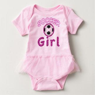Tutú adorable del bebé del chica del fútbol polera