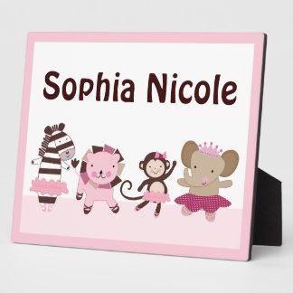 Tutú adorable lindo/placa de los animales de la placas con foto