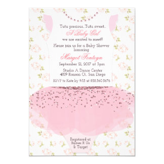 Tutu Ballerina Baby Shower Invitation