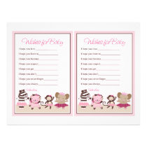 "Tutu Cute Animals ""Wishes for Baby"" sheet"
