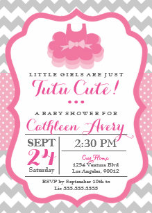 Tutu cute baby shower invitations zazzle tutu cute baby shower invitation filmwisefo