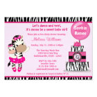 TuTu Cute Baby Shower invitation ZEBRA GIRL Mommy