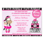 "TuTu Cute Baby Shower invitation ZEBRA GIRL Mommy 5"" X 7"" Invitation Card"