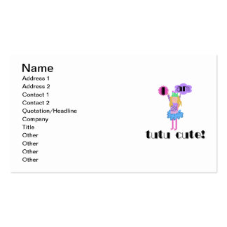 Tutu Cute Ballerina Double-Sided Standard Business Cards (Pack Of 100)