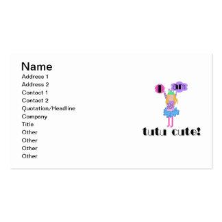 Tutu Cute Ballerina Business Card Templates