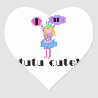 Tutu Cute Ballerina Heart Sticker