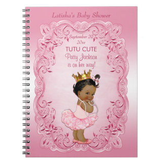 Tutu Cute Ethnic Princess Baby Shower Guestbook Notebook
