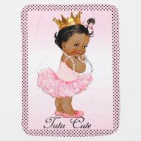Tutu Cute Ethnic Princess Polka Dots Double Sided Swaddle Blanket