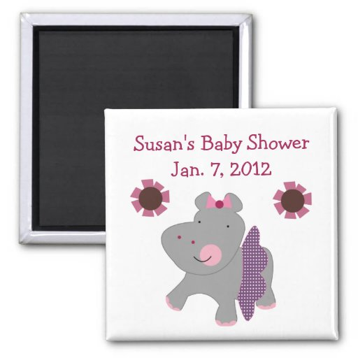 Tutu Cute Hippo Magnet/Keepsake/Party Favor Magnet