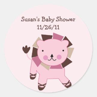 Tutu Cute Lion Stickers/Envelope Seals Classic Round Sticker