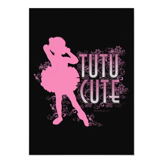 Tutu Cute party or recital invitation