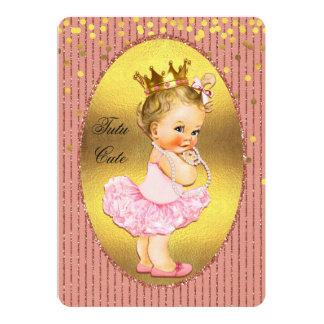Tutu Cute Princess Faux Gold Foil Confetti Glitter Card