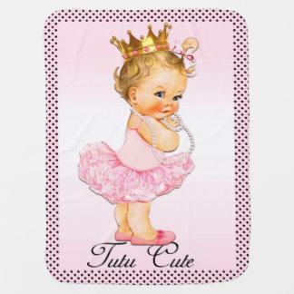 Tutu Cute Princess Polka Dots Double Sided Baby Blanket