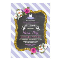Tutu Cute Purple Lilac Ballet Baby Shower Invite