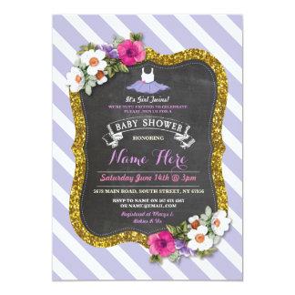 Tutu Cute Purple Lilac Ballet Baby Shower Invite