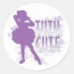 Tutu Cute (Violet) Sticker