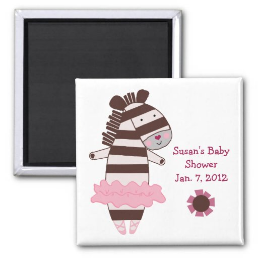Tutu Cute Zebra Magnet/Keepsake/Party Favor Magnet