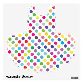 Tutu Dress Colourful Dots - Wall Decal