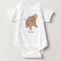 Tutu Jungle Elephant Baby T-Shirt