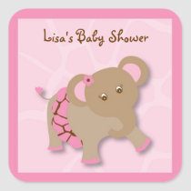 Tutu Jungle Elephant Stickers Envelope Seals