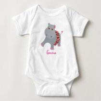 Tutu Jungle Hippo Baby T-Shirt