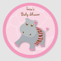 Tutu Jungle Hippo Stickers Envelope Seals