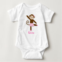 Tutu Jungle Monkey Baby T-Shirt