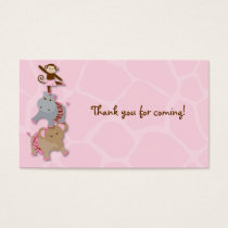 Tutu Jungle Monkey Goodie Bag Tags