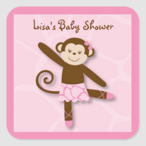 Tutu Jungle Monkey Stickers Envelope Seals