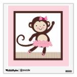 Tutú lindo/etiqueta de la pared del mono de la bai