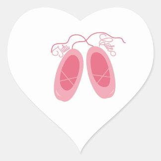 Tutú lindo pegatina de corazon personalizadas