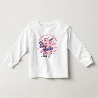 Tutu Piggy 2nd Birthday Custom T Shirts
