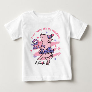 Tutu Piggy 2nd Birthday Custom Tee Shirts
