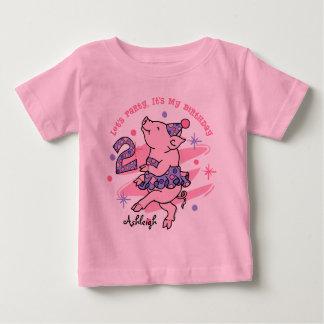 Tutu Piggy 3rd Birthday Custom Shirt