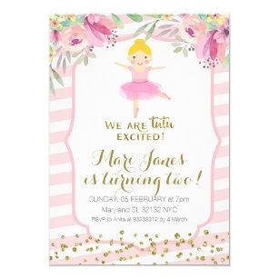 Girls tutu birthday invitations zazzle tutu pink girl birthday invitation filmwisefo