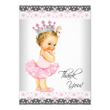 Tutu Princess Baby Shower Thank You Card