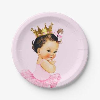 Tutu Princess Ballerina Baby Shower Paper Plate