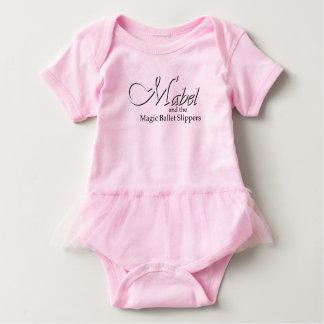 Tutú rosado Bdysuit del bebé de los deslizadores Playera