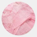 tutú rosado etiquetas redondas