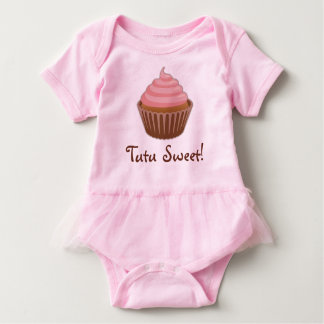Tutu Sweet Cupcake Baby Girl Baby Bodysuit