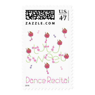 Tutu Sweet Dance Recital Postage