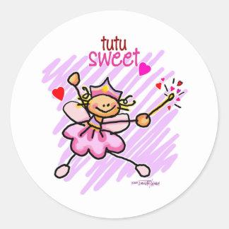tutu sweet Love Classic Round Sticker