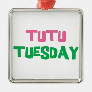 Tutu Tuesday Metal Ornament