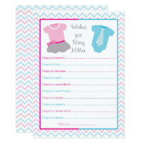 Tutus or Ties Wishes for Baby Card